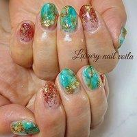 ". . ""turquoise art × pinkbrown glitter..."" . . #luxurynailvoila  #makihorita  #nailsalon  #japannails  #koiwa  #tokyonails  #resortnails  #nail  #nails  #naildesign  #nailart  #glitternails  #marblenails  #turquoiseart  #handdrawing  #fashion  #beautiful  #nailporn  #naillove  #shortnails  #ラグジュアリーネイルヴォアラ #小岩ネイル #小岩ネイルサロン #江戸川区ネイルサロン  #ファッションネイル  #オシャレネイル #ターコイズネイル  #ピンクブラウンラメ  #春ネイル #夏ネイル #Nailist maki #ネイルブック"