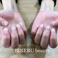 ブライダルネイル💎✨ #ブライダルネイル #キラキラネイル #シェル埋め込み #おめでとうございます #BINERU beauty #静岡ネイルサロン #BINERU beauty #ネイルブック