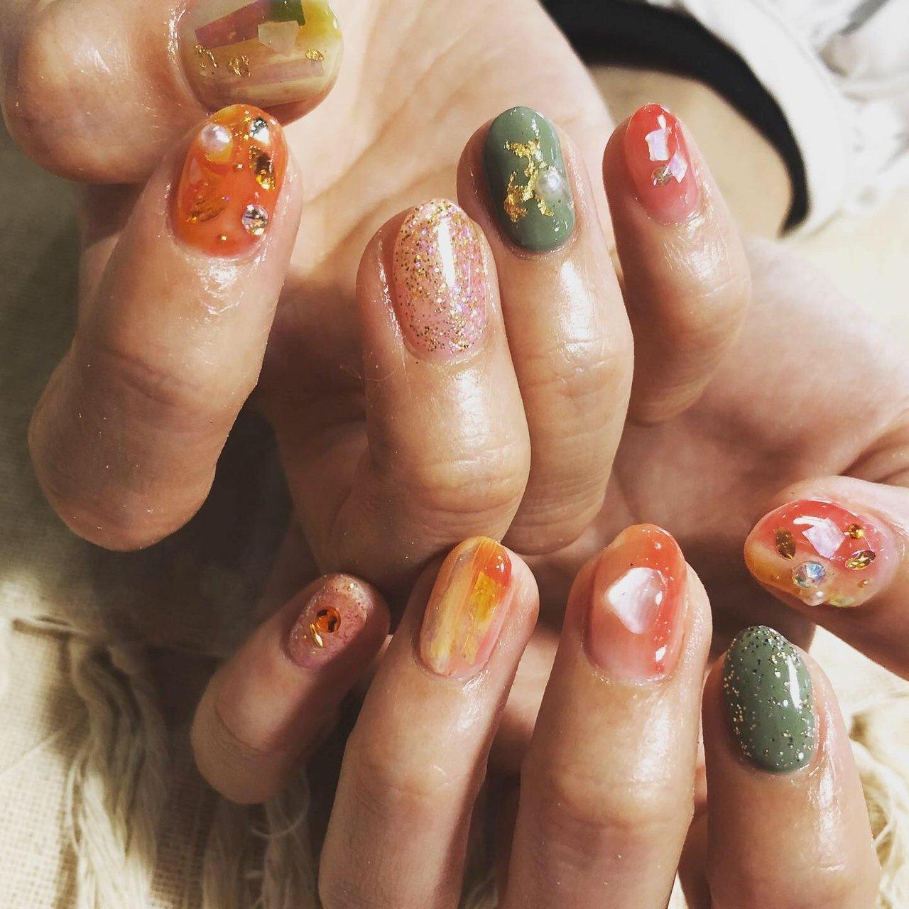 #ニュアンスネイル#オレンジネイル #アシメネイル #ジェルネイル #gelnails #スカルプネイル #sculptednails #春ネイル #springnails #インスタ映え #夏ネイル#summernails #秋ネイル #autumnnails #ネイル #ネイルデザイン #nail #nails #nailstagram #nailart #naildesign #個性派ネイル #派手ネイル #高田馬場 #西早稲田 #面影橋 #高田馬場ネイル #西早稲田ネイル #オールシーズン #旅行 #海 #リゾート #ハンド #グラデーション #ホログラム #ラメ #ワンカラー #ニュアンス #ショート #オレンジ #イエロー #グリーン #ジェル #お客様 #Juri #ネイルブック