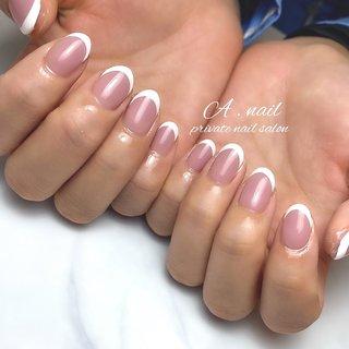 バーチャルフレンチ⋆︎* いつもありがとうございます♡♡ . . . . ❥┉┉┉┉┉┉┉┉┉┉┉┉┉┉┉┉ 滋賀県大津市瀬田のプライベートサロン . 𝐴 . 𝑛𝑎𝑖𝑙 𝑝𝑟𝑖𝑣𝑎𝑡𝑒𝑛𝑎𝑖𝑙𝑠𝑎𝑙𝑜𝑛 ♔ 𝑁𝑎𝑖𝑙 𝑏𝑜𝑜𝑘オススメ認定サロン♔ .  フィルイン *自爪を削らないジェル使用(自爪を傷ませにくい)による付け替えでペラペラになりません♡  𝑁𝑎𝑖𝑙 𝑏𝑜𝑜𝑘よりご予約お待ち致しております。 . #フィルイン #フィルイン一層残し #ジェルネイル #ネイル #ネイルデザイン #自爪 #フレンチネイル #バーチャルフレンチ #美爪 #冬ネイル #春ネイル #nail #nails #nailart #newnail #instagood #instanails #滋賀美容 #滋賀ネイルサロン #滋賀ネイル #瀬田ネイルサロン #プライベートサロン #maogel導入サロン #followme #オフィスネイル #春 #オールシーズン #ハンド #シンプル #フレンチ #グラデーション #ホワイト #ピンク #ジェル #お客様 #A . nail ~private nailsalon ~ #ネイルブック