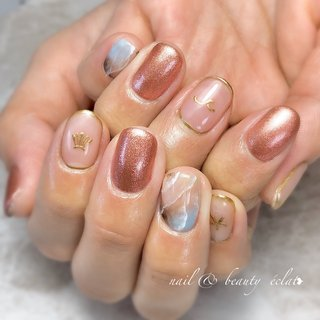 #ボヘミアンネイル#天然石ネイル #nail & beauty éclat❥ #ネイルブック