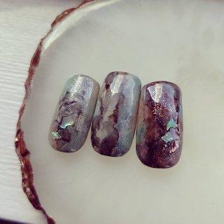 #ニュアンスネイル #天然石デザイン #春 #ジェル #S.K_nail #ネイルブック