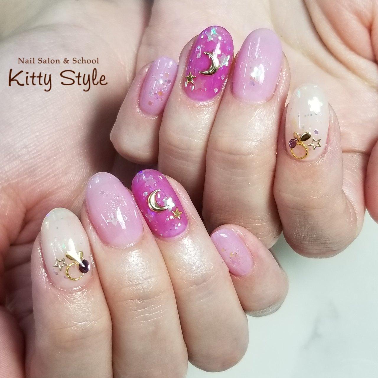#ハンド #ピンク #kittystyle #ネイルブック