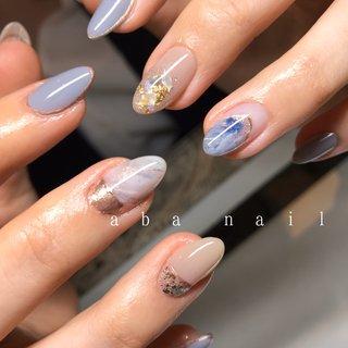 _  いつもありがとうございます!✨ #シンプルネイル#nail#nails#名古屋ネイルサロン#nailstagram#eye#美甲#個性派ネイル#ニュアンスネイル#名古屋サロン#blue#art#artwork#artist#artistry#artworks#ネイル#art#nailfashion#nailscompetition#competition#instagood#instafashion#instapic#個性的ネイル#ネイル サロン #春 #夏 #オールシーズン #ハンド #シンプル #ワンカラー #大理石 #ニュアンス #ミディアム #水色 #ブルー #グレー #ジェル #tae_nail #ネイルブック