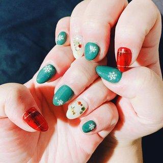 12月のネイル クリスマスデザイン♡ #ネイル #クリスマスネイル #クリスマス #しゃり #ネイルブック