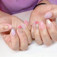 #パープル#ピンク#可愛い#オーロラ#ユニコーン#ハート #salon_est #ネイルブック