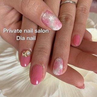 #春 #卒業式 #入学式 #ハンド #シンプル #ワンカラー #フラワー #Private nail salon Dia nail #ネイルブック