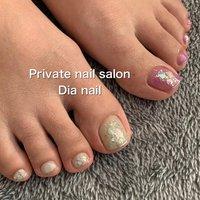 #春 #オフィス #女子会 #フット #ワンカラー #シェル #ニュアンス #Private nail salon Dia nail #ネイルブック