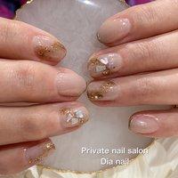 #春 #秋 #オフィス #ハンド #グラデーション #シェル #Private nail salon Dia nail #ネイルブック