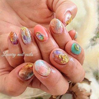 ". . ""Spring boho design "" . 🌵🌵🌵 . カラーはお客様choice👍🏻デザインはmakiが😊👌🏼 . お客様と一緒に作り上げるネイルスタイル大好き💗 . めちゃくちゃ似合ってたあ☺️💗 . . #luxurynailvoila  #makihorita  #nailsalon  #japannails  #tokyonails  #citygirls  #bohostyle  #bohonails  #springnails  #nail  #jelnails  #nails  #naildesign  #handdrawing  #nailart  #instanails  #fashion  #beautiful  #2020ss  #summernails  #resortnails  #ラグジュアリーネイルヴォアラ #小岩ネイル  #小岩ネイルサロン #江戸川区ネイルサロン  #ボヘミアンネイル  #ニュアンスネイル  #リゾートネイル  #春ネイル  #ショートネイル #Nailist maki #ネイルブック"