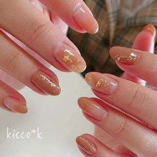 塗り方で色遊び(๑❛ڡ❛๑)☆ #ブラウンネイル #スターパーツ #ゴールドラメ  #brownnails #nail #nails #nailsalon #instanails #nailswag #nailstagram #nailart #naildesign #gelnails #manicurist #ネイル #ネイルデザイン #大人ネイル #ジェルネイル #ネイルサロン #八潮市 #八潮ネイル #八潮ネイルサロン #足立区ネイルサロン #北千住ネイルサロン #草加ネイル #三郷ネイル #自宅サロン #kicco_k #オールシーズン #オフィス #デート #女子会 #ハンド #シンプル #星 #ニュアンス #バイカラー #ショート #ベージュ #ブラウン #ジェル #お客様 #kicco_k.nail #ネイルブック