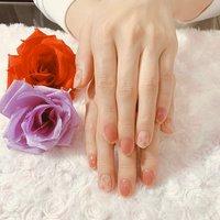 春ネイル #春 #ハンド #シンプル #ミディアム #ピンク #レッド #ジェル #お客様 #nail salon BLACK #ネイルブック