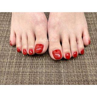 #ワンカラー #くすみカラー #Nail Salon Rose,h #ネイルブック