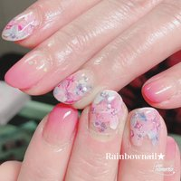 #フラワー #ピンク #春 #松谷早百合(まつやさゆり) #ネイルブック