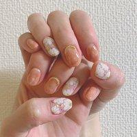 #春 #入学式 #ハンド #フラワー #ホワイト #ピンク #ジェル #お客様 #yo.3. #ネイルブック