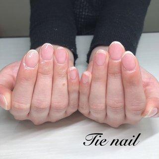 クリア仕上げも承っております🙆♀️✨ . . #ハンドネイル #シンプルネイル #クリアネイル #ジェルネイル #春ネイルデザイン #Tie nail #総社市 #個人サロン #オフィス #ハンド #シンプル #ショート #クリア #ジェル #お客様 #chie #ネイルブック