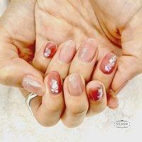 ちゅるんカラーのシェルネイル✨ 透ける感じが人気です♪  #春#春ネイル#春ネイル2020#ちゅるん#ちゅるんカラー#うるツヤネイル #シェル#シェルネイル #春 #夏 #ハンド #ラメ #シェル #ミディアム #ピンク #ブラウン #ジェル #お客様 #slash_nail.tsukiyama #ネイルブック