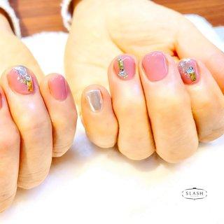 春ピンクのショートネイル✨ ミラーネイルで華やかに♪  #ミラー#ミラーネイル#春#春ネイル#春ネイル2020#ワンカラー#ピンクネイル #春 #夏 #ハンド #ワンカラー #ミラー #ショート #ピンク #メタリック #ジェル #お客様 #slash_nail.tsukiyama #ネイルブック