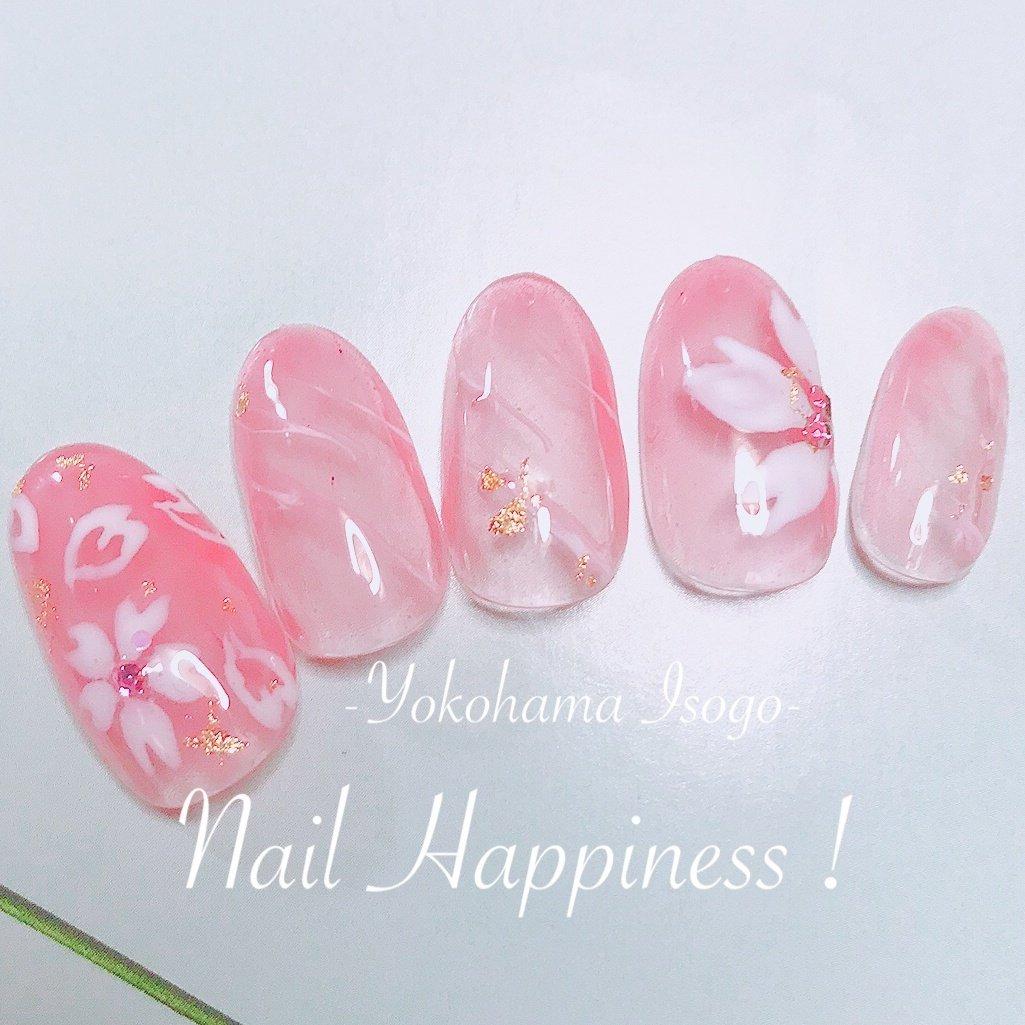 #桜ネイル #春ネイル2020 #クリアネイル #磯子区ネイルサロン #春 #成人式 #卒業式 #入学式 #ラメ #ワンカラー #フラワー #ピンク #ジェル #ネイルチップ #Nail Happiness!(ネイルハピネス)*ささきまき #ネイルブック