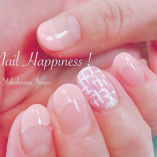 #春ツイードネイル #春ネイル2020 #フレンチネイル #磯子区ネイルサロン #春 #オールシーズン #オフィス #デート #フレンチ #ツイード #ピンク #お客様 #Nail Happiness!(ネイルハピネス)*ささきまき #ネイルブック
