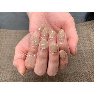 #くすみカラー #ワンカラー #Nail Salon Rose,h #ネイルブック