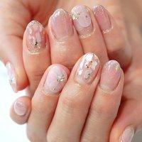 #ピンク#桜ネイル#かわいい #フラワーネイル #シェルネイル #春ネイル #キラキラ#たらしこみ #ange nail salon #ネイルブック