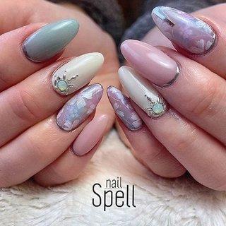 Flower💅 ︙ #gelnail#gel#nailspell#nailstagrame #nailsalonspell #nails #春ネイル#ネイル#手描きアート#ジェルネイル#ネイルデザイン#フラワーネイル#ネイルブック #kokoist#お花ネイル#上田市ネイルサロン#stonenails #ピンクネイル#ミントネイル #nailSpell_azusa #ネイルブック
