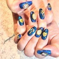 テイスト違いの派手派手ブルーネイル ※お持ち込みパーツ #💅#nails #🦄#naildesign#designnails #gelnail#ordermade#partynail#metallicnails #bluenails💙 #lamenail longnails#unicorn#オーダーメイド #持ち込みデザイン #持ち込みパーツ #派手ネイル #パリピネイル #パーティーネイル #立体ネイル #ビジューネイル#ロングネイル#ユニコーンネイル #ラメネイル#アットホーム #湘南ネイル#江ノ島ネイル #藤沢ネイル#鎌倉ネイル#長さ出し #オールシーズン #ライブ #ハロウィン #パーティー #ハンド #ラメ #ビジュー #痛ネイル #ロック #ギャラクシー #ロング #ブルー #ネイビー #ゴールド #ジェル #お客様 #jamspark #ネイルブック