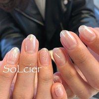 #ハンド #ニュアンス #ミラー #ホワイト #【SoLcier】ソルシエ #ネイルブック