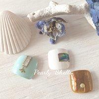 #フット #pearly.shell.s #ネイルブック