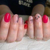 #オールシーズン #ライブ #ハンド #シンプル #ワンカラー #イニシャル #healthy nails #ネイルブック