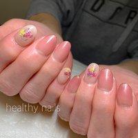 #春 #ハンド #healthy nails #ネイルブック