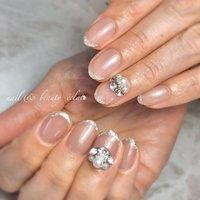 #くすみカラー #上品ネイル #シンプルネイル #nail & beauty éclat❥ #ネイルブック