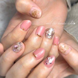 #ピンクネイル#シェルネイル#しんちゃんネイル #クレヨンしんちゃん #ワイヤー #キャラクター #nail & beauty éclat❥ #ネイルブック