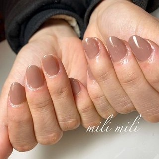 . グレージュのワンカラー☆*° . . .  #nails#springnails#onecolornails#simplenails#officenails#officenails#naturalnails#stonenails#nudynails#nudenails#ネイル#大人ネイル#大人可愛いネイル#上品ネイル#可愛いネイル#春ネイル#オフィスネイル#ワンカラーネイル#301ハダージュ#グレージュネイル#マオジェル#maogel#ショートネイル#鹿児島#鹿屋#都城#日南#串間#志布志#志布志ネイル#志布志milimili #オールシーズン #オフィス #ハンド #シンプル #ワンカラー #ミディアム #グレージュ #ジェル #milimili #ネイルブック