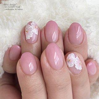 #さくらネイル #春 #卒業式 #入学式 #ピンク #luludynail #ネイルブック