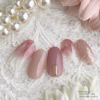 #春 #オールシーズン #ハンド #シンプル #ピンク #luludynail #ネイルブック