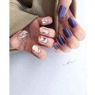 3色を使用したart🍐  #ジェルネイル#ジェル#ネイルデザイン#ニュアンスネイル#ハンド #ハンド #シンプル #ワンカラー #ニュアンス #ジェル #yn.eto #ネイルブック