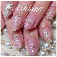 *    pinknails💍♡     Instagram → yochan4.nail #春 #夏 #オールシーズン #デート #フラワー #パール #ピンク #YokoShikata♡キアラ #ネイルブック