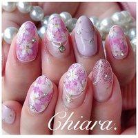 *   flowernails💍♡  pinknails. ♥︎        Instagram → yochan4.nail #春 #夏 #オールシーズン #女子会 #フラワー #ピンク #YokoShikata♡キアラ #ネイルブック