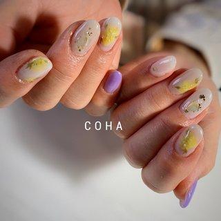 #ミモザネイル #春 #COHA nail and art #ネイルブック