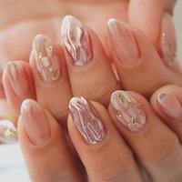 #ミラーネイル#ピンク#グラデーション#春ネイル #ange nail salon #ネイルブック