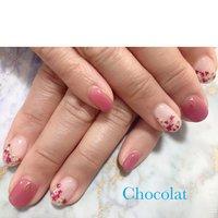 #Chocolat #押し花  #押し花ネイル  #フレンチ  #ピンク  #いつもご来店ありがとうございます #chocolat214 #ネイルブック