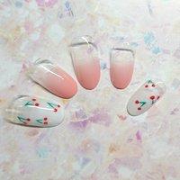 #春 #夏 #ホワイト #ピンク #ネイルチップ #板村友子 #ネイルブック
