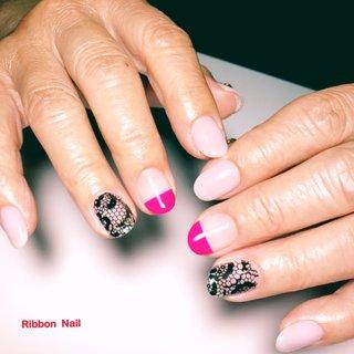 ⑅お客様 Nail⑅ ୨୧┈┈┈┈┈┈┈┈┈┈┈┈┈┈┈┈┈┈୨୧ レースネイル♡  ワンカラーは@riccagel 055Mを使いました。 ラベンダーっぽくて可愛いらしいお色です。  ポイントに、098Aでハーフフレンチに♡ ピンクが目を引きますね~♡  ⑅ いつもご来店ありがとうございます♡ ୨୧┈┈┈┈┈┈┈┈┈┈┈┈┈┈┈┈┈┈୨୧ #ワンカラー #レース #ハーフフレンチ #riccagel #リッカジェル #RibbonNail  #ルビケイト #ルビケイト導入店  #姶良市ネイルサロン #姶良ネイル #姶良市ネイル #加治木ネイルサロン #加治木ネイル #姶良市加治木町ネイルサロン #姶良市加治木町ネイル #Ribbon Nail #ネイルブック