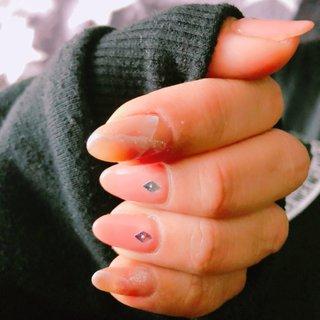 #春 #ハンド #大理石 #ピンク #アール #ネイルブック