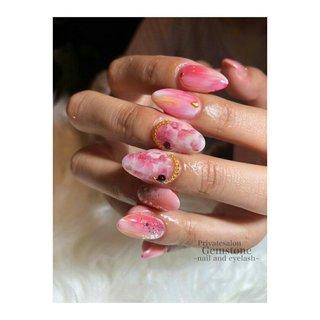 #シェルネイル #シェル #ピンク #gemstone1026 #ネイルブック