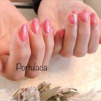 ニュアンスネイル♡  #ニュアンス #ピンク #春  春らしくて華やかです〜☺︎  いつもありがとうございます♡ #ニュアンス #ピンク #Portulaca #ネイルブック
