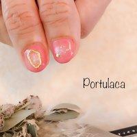 ニュアンスネイル ♡  #ニュアンス  #ピンク #春   春らしくて華やかです〜☺︎  いつもありがとうございます♡ #ニュアンス #ピンク #Portulaca #ネイルブック