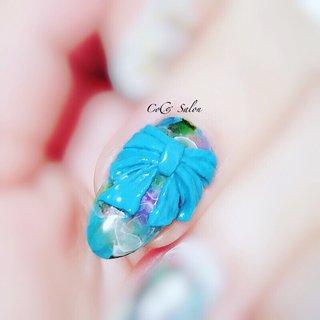 #リボンネイル #3Dネイル #春ネイル #たらしこみネイル  #カラフルネイル  #夏ネイル  #トレンドネイル  #ブルーネイル  #nail #nailsalon #nailart #ikebukuro #tokyo #cocosalon #beauty #fashion #naildesign #nailstagram #nailbook #美甲 #春 #夏 #リゾート #パーティー #ハンド #3D #たらしこみ #ニュアンス #リボン #ホワイト #ブルー #カラフル #ジェル #お客様 #nonちゃん CoCo Salon #ネイルブック